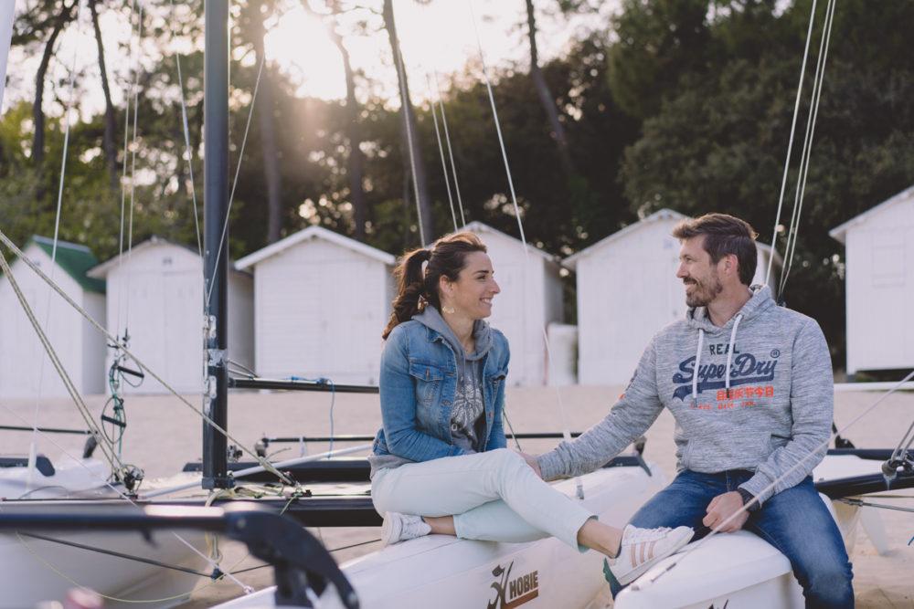 séance couple à la plage vendée