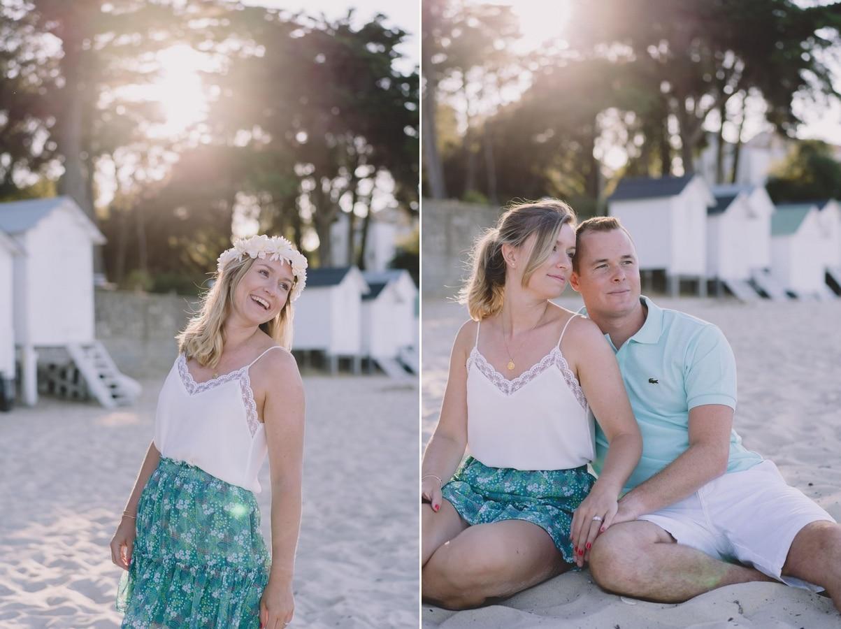 Séance couple sur la plage des Dames à Noirmoutier en l'île