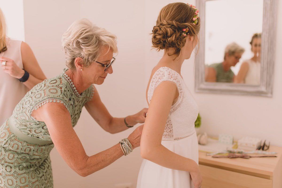 Préparatif de mariage robe rembo styling
