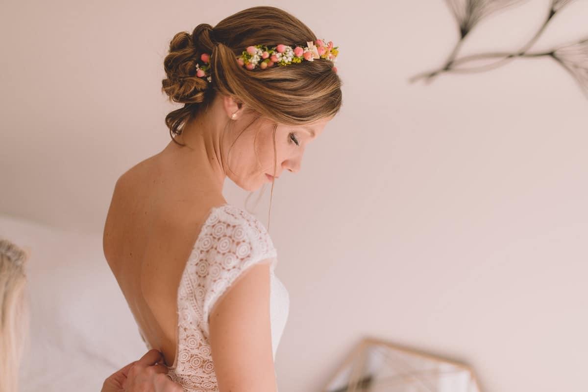Mariage couronne de fleurs